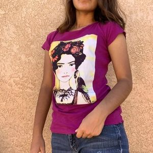 District Frida Kahlo Purple Shirt